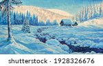 winter wildlife landscape with...   Shutterstock . vector #1928326676