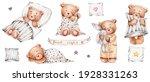 Set Of Cute Teddy Bears ...
