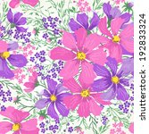 Vector Seamless Floral Romanti...