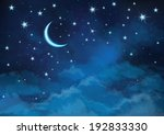 vector night sky background... | Shutterstock .eps vector #192833330
