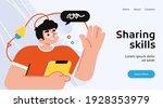 online education modern flat... | Shutterstock .eps vector #1928353979
