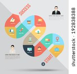 abstract business info graphics ... | Shutterstock .eps vector #192838388