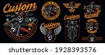 vintage colorful motorcycle... | Shutterstock .eps vector #1928393576