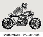 skeleton in helmet and goggles...   Shutterstock .eps vector #1928393936