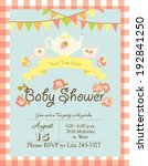 baby shower. tea party in the... | Shutterstock .eps vector #192841250