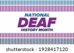 national deaf history month.... | Shutterstock .eps vector #1928417120