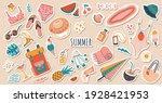 set of cute vector summer... | Shutterstock .eps vector #1928421953