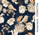 seamless pattern with flowers...   Shutterstock .eps vector #1928427356