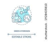 green hydrogen concept icon.... | Shutterstock .eps vector #1928435810