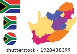 map and flag of south africa   Shutterstock .eps vector #1928438399