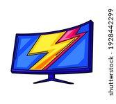 illustration of gaming monitor. ... | Shutterstock .eps vector #1928442299