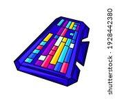 illustration of gaming keyboard.... | Shutterstock .eps vector #1928442380