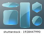 set of different shapes glass... | Shutterstock .eps vector #1928447990