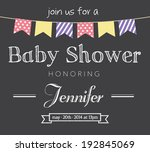 baby shower invitation card | Shutterstock .eps vector #192845069