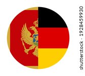 round icon with montenegro and... | Shutterstock .eps vector #1928459930