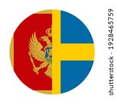 round icon with montenegro and... | Shutterstock .eps vector #1928465759