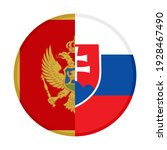 round icon with montenegro and... | Shutterstock .eps vector #1928467490