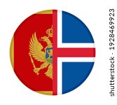 round icon with montenegro and... | Shutterstock .eps vector #1928469923