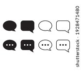 speech bubble icon. chat icon | Shutterstock .eps vector #1928471480