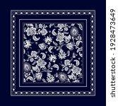 bandana clipart. vector square... | Shutterstock .eps vector #1928473649