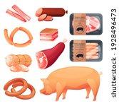 pork food products  butchery...   Shutterstock .eps vector #1928496473