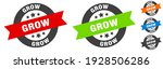 grow stamp. grow round ribbon... | Shutterstock .eps vector #1928506286