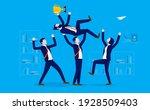 lifting colleague   business... | Shutterstock .eps vector #1928509403