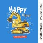 happy digging slogan with... | Shutterstock .eps vector #1928518253