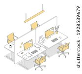 modern isometric office...   Shutterstock .eps vector #1928539679