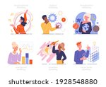 set of people with different... | Shutterstock .eps vector #1928548880