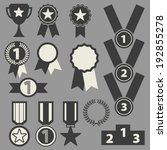 trophy and awards icons set. | Shutterstock .eps vector #192855278