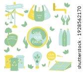 eco life illustration. set of... | Shutterstock .eps vector #1928562170