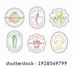 vegetables and mushrooms frame...   Shutterstock .eps vector #1928569799