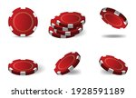 realistic red matte casino... | Shutterstock .eps vector #1928591189