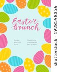 easter brunch invitation. cute...   Shutterstock .eps vector #1928598356
