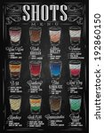 set of shots menu with a drinks ... | Shutterstock .eps vector #192860150