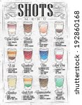 set of shots menu with a shots... | Shutterstock .eps vector #192860168