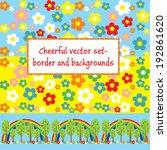 set of joyful vector seamless... | Shutterstock .eps vector #192861620