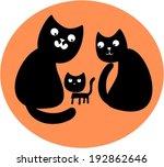 happy cat's family | Shutterstock .eps vector #192862646