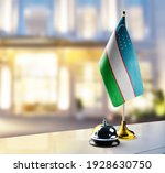 uzbekistan flag on the... | Shutterstock . vector #1928630750