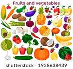 set of fresh healthy vegetables ...   Shutterstock .eps vector #1928638439