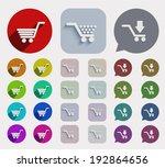 flat shopping icons set....