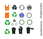 recycle icon set  vector eps10   Shutterstock .eps vector #1928651303