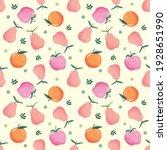 summer seamless pattern with... | Shutterstock . vector #1928651990