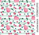 fruit  berry and blossom... | Shutterstock . vector #1928651993