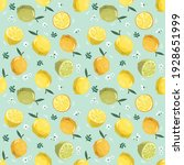summer seamless pattern with... | Shutterstock . vector #1928651999