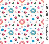 seamless pattern with sweets.... | Shutterstock . vector #1928652056