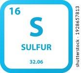 S Sulfur Non Reactive Metal...