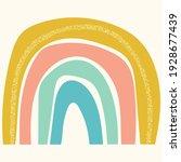 scandinavian cute rainbow... | Shutterstock .eps vector #1928677439