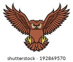 owl spread the wing | Shutterstock .eps vector #192869570